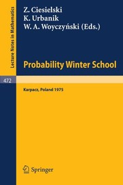 Cover of: Probability-Winter School