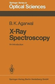 Cover of: X-ray spectroscopy