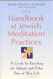 Cover of: Handbook Of Jewish Meditation Practices