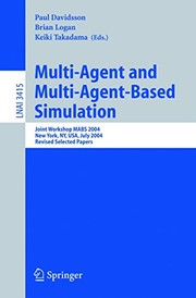 Cover of: Multi-Agent and Multi-Agent-Based Simulation: Joint Workshop MABS 2004 (Lecture Notes in Computer Science Book 3415)