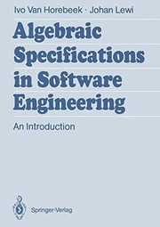 Cover of: Algebraic Specifications in Software Engineering: An Introduction