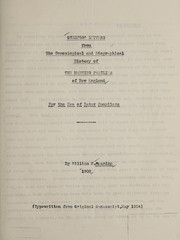 Cover of: Overflow letters from the genealogical and biographical history of the Manning families of New England for the use of later compilers | William H. Manning