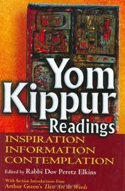 Cover of: Yom Kippur Readings | Dov Peretz Elkins