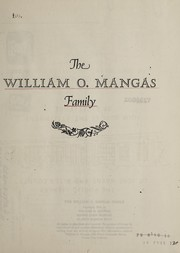 Cover of: The William O. Mangas family | William O. Mangas