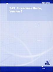 Cover of: SAS Procedures Guide, Version 8 (Three Volume Set) |