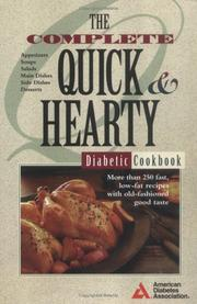 Cover of: The complete quick & hearty diabetic cookbook