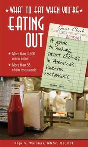 Cover of: What to eat when you're eating out
