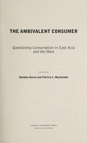Cover of: The ambivalent consumer |
