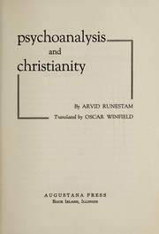 Cover of: Psychoanalysis and Christianity