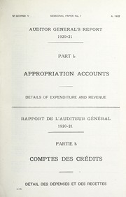 Cover of: Report of the Auditor General to the House of Commons | Canada. Office of the Auditor General