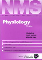 Cover of: Physiology |