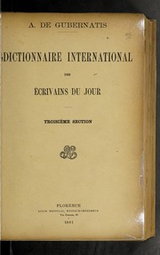 Cover of: Dictionnaire international des écrivains du jour