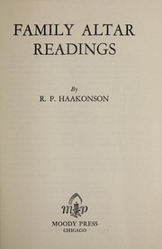Cover of: Family altar readings | Reidar Pareli Haakonson