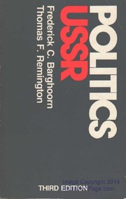 Cover of: Politics in the USSR | Frederick Charles Barghoorn