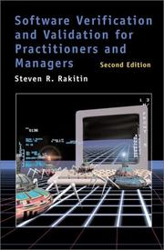Cover of: Software verification and validation for practitioners and managers