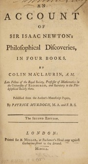Cover of: An account of Sir Isaac Newton