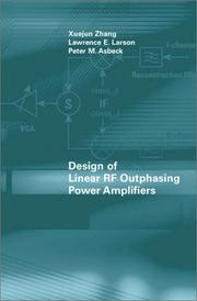 Cover of: Design of linear RF outphasing power amplifiers |