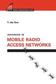 Cover of: Advances in Mobile Radio Access Networks