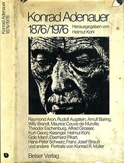 Cover of: Konrad Adenauer, 1876-1976 (German Edition)
