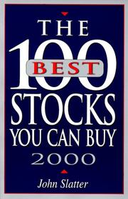 Cover of: The 100 Best Stocks You Can Buy, 2000