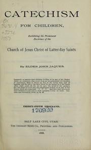 Cover of: Catechism for children | John Jaques