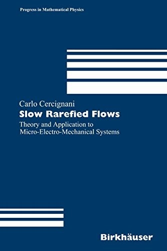 Slow Rarefied Flows: Theory and Application to Micro-Electro-Mechanical Systems (Progress in Mathematical Physics Book 41) by Carlo Cercignani