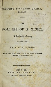 Cover of: The follies of a night