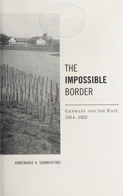 Cover of: The impossible border