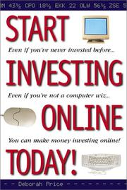 Cover of: Start investing online today! | Deborah L. Price