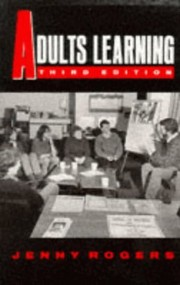 Cover of: Adults learning | Jenny Rogers