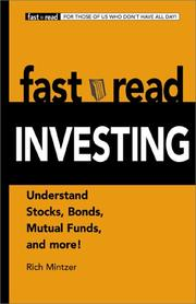 Cover of: Fastread investing: understand stocks, bonds, mutual funds, and more!