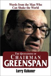 Cover of: The quotations of Chairman Greenspan