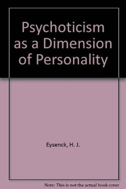 Cover of: Psychoticism as a dimension of personality