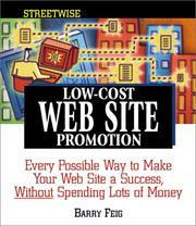 Cover of: Streetwise Low-Cost Web Site Promotion | Barry Feig