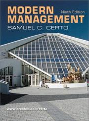 Modern management by Samuel C. Certo