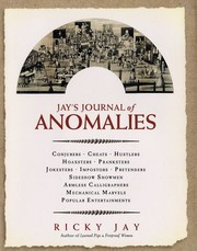 Cover of: Jay's journal of anomolies