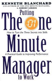 Cover of: Putting the One Minute Manager to Work (One Minute Manager)
