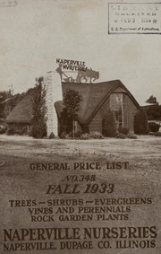 Cover of: General price list, No. 345 | Naperville Nurseries