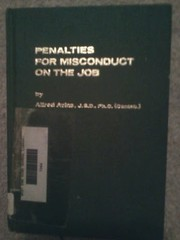 Cover of: Penalties for misconduct on the job. | Alfred Avins