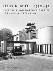 Cover of: Haus K. in O., 1930-32