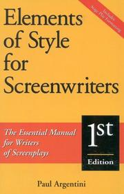 Cover of: Elements of style for screenwriters