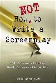 Cover of: How not to write a screenplay