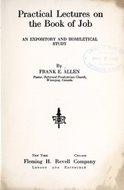 Cover of: Practical lectures on the Book of Job | Frank Emmett Allen