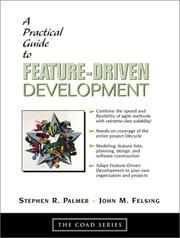 Cover of: A Practical Guide to Feature-Driven Development (The Coad Series) | Stephen R Palmer