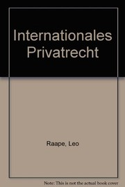 Cover of: Internationales Privatrecht