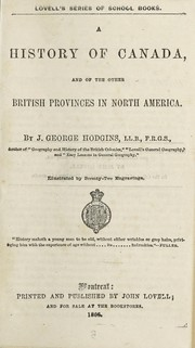 Cover of: A history of Canada and of the other British provinces in North America