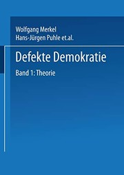 Cover of: Defekte Demokratie: Band 1: Theorie (German Edition)