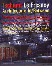 Cover of: Tschumi