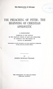 Cover of: The preaching of Peter | Joseph Nicholas Reagan