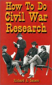 Cover of: How to do Civil War research